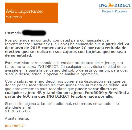 ING un banco sin comisiones